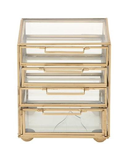 54292 gold 4 drawer chest