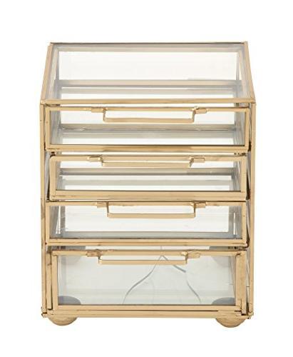 54292 gold 4 drawer chest