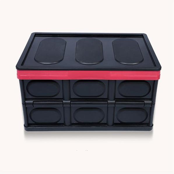 55l collapsible storage box durable stackable folding