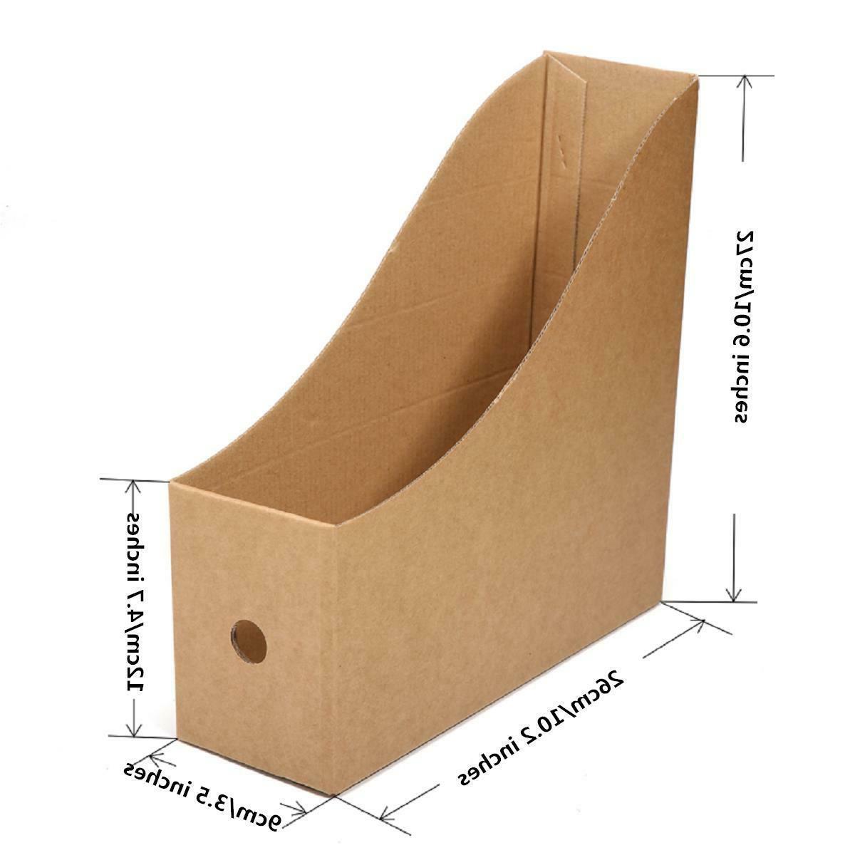 5pcs File Storage Folder Kraft Paper Box for Home