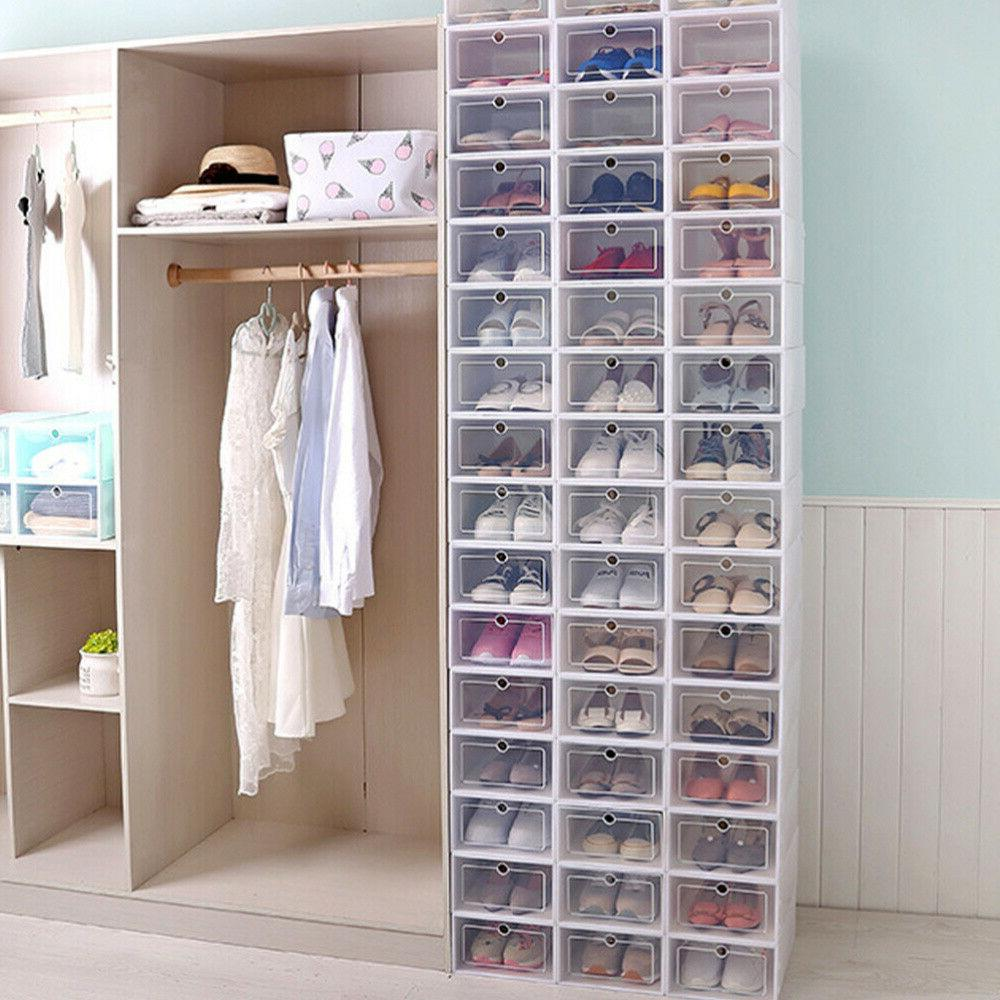 12-36 pcs Shoe Storage Box Case Sneaker Organizer Stackable