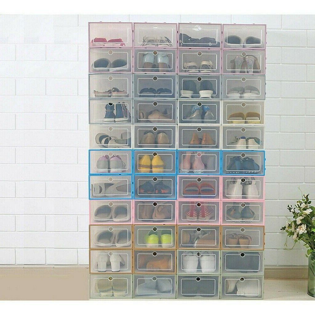 6/12/24X Foldable Storage Plastic Stackable