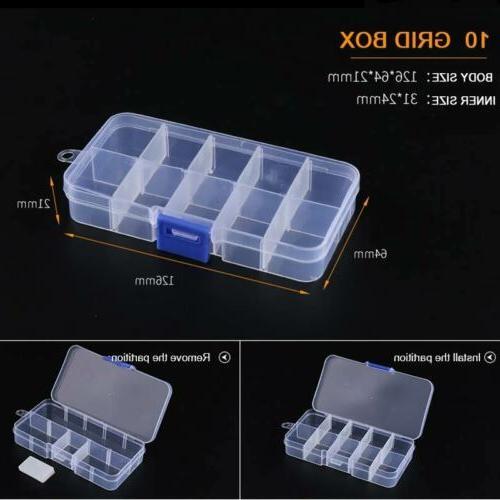 6-36 Grid Storage Plastic Jewelry Bead Organizer Case