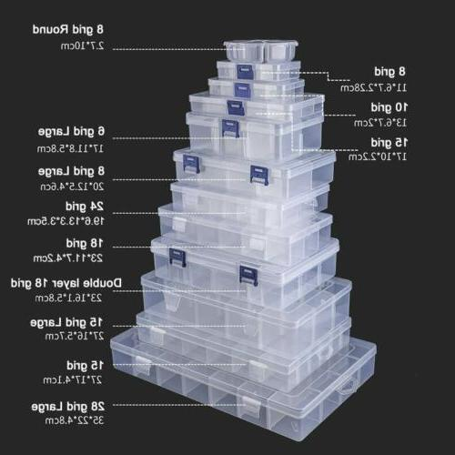 6 36 grid storage box plastic compartment