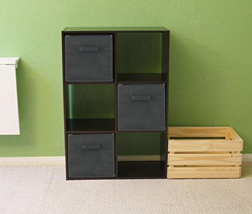 6 Pack - Foldable Cube Storage Dark