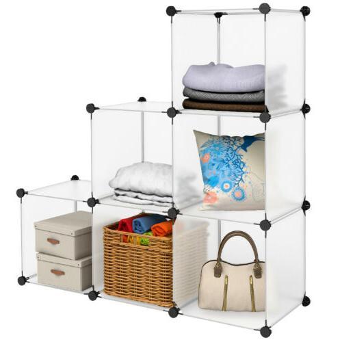 DIY Modular Household Storage Organizer Shelving System Clos