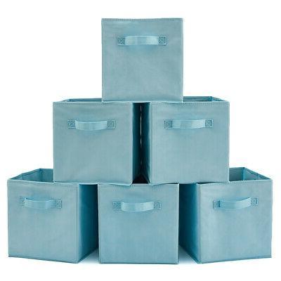 6 Home Storage Bins organizer Boxes inch