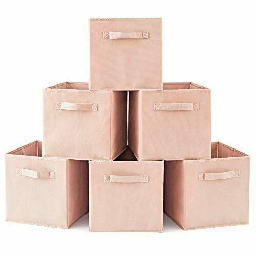 6 home storage basket bins organizer boxes