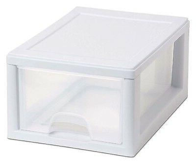 Sterilite Box Stacking Storage Container Closet