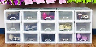 Sterilite Stacking Storage Drawer Container Closet