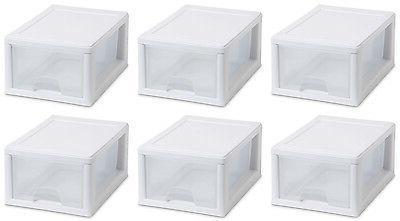 6 modular stacking storage drawer