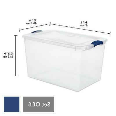 6 PACK- Containers Lid Latch Organizer