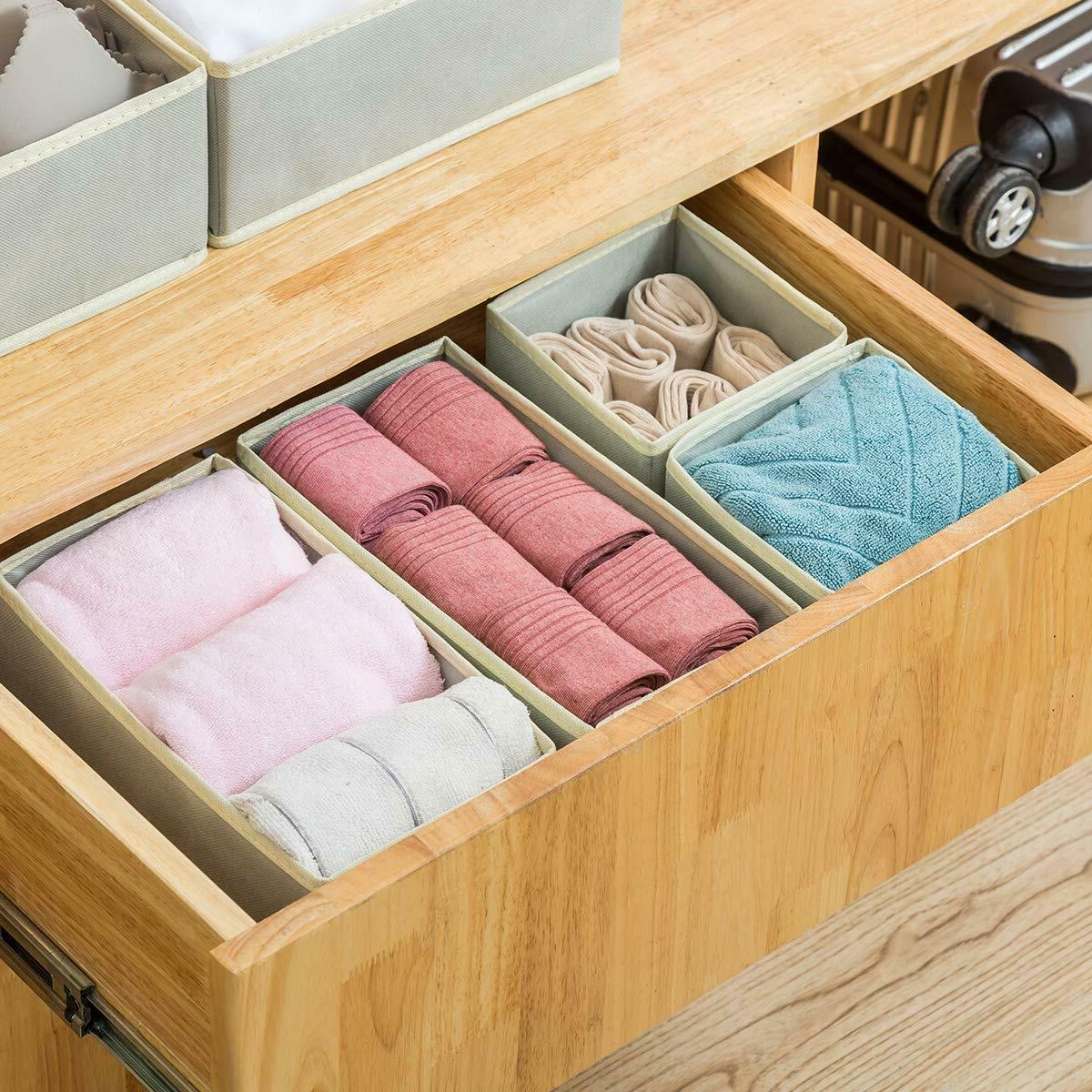 6 Cloth Storage Box Drawer Organizer