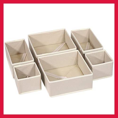 KIMIANDY 6 Pack Cloth Storage Dresser