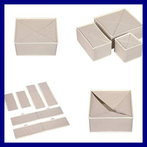 KIMIANDY 6 Foldable Cloth Storage Box Dresser