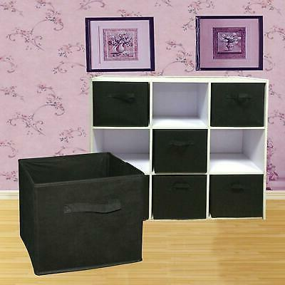 6 pack foldable cube storage folding boxes
