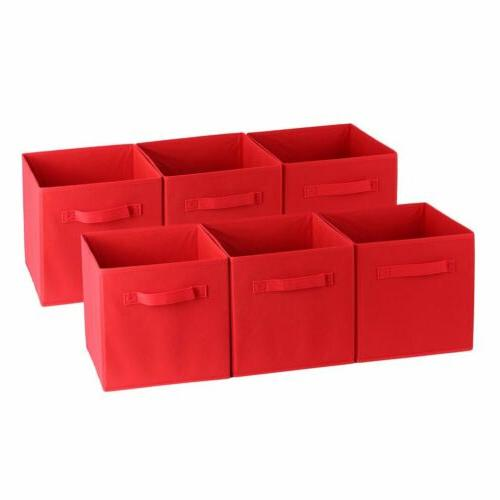 6PACKS Storage Bin Closet Toy Box Container Organizer Home F