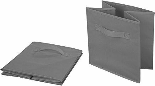 6 Foldable Cubes Collapsible Bins Shelf