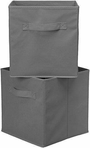 6 Pack Cubes Fabric Bins Shelf Basket