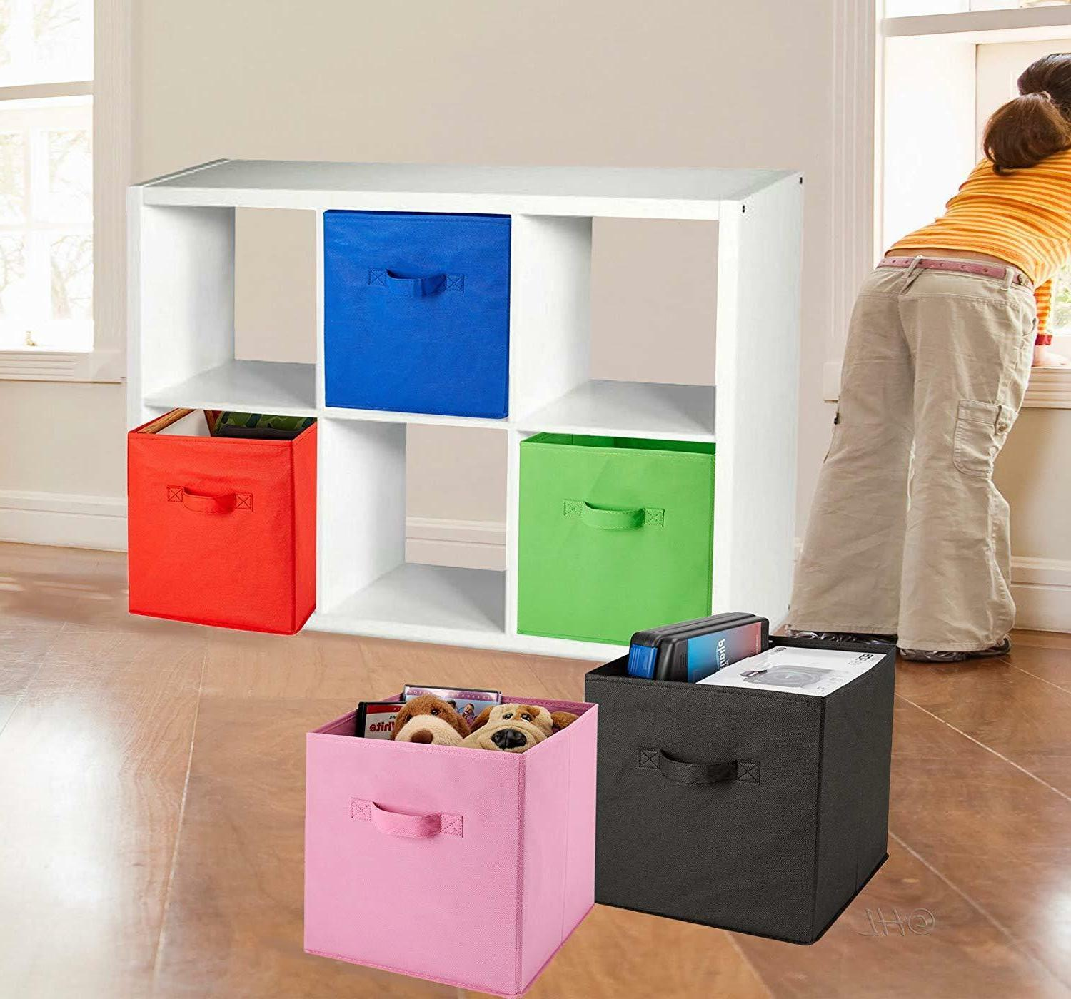 6 Cubes Collapsible Fabric Shelf