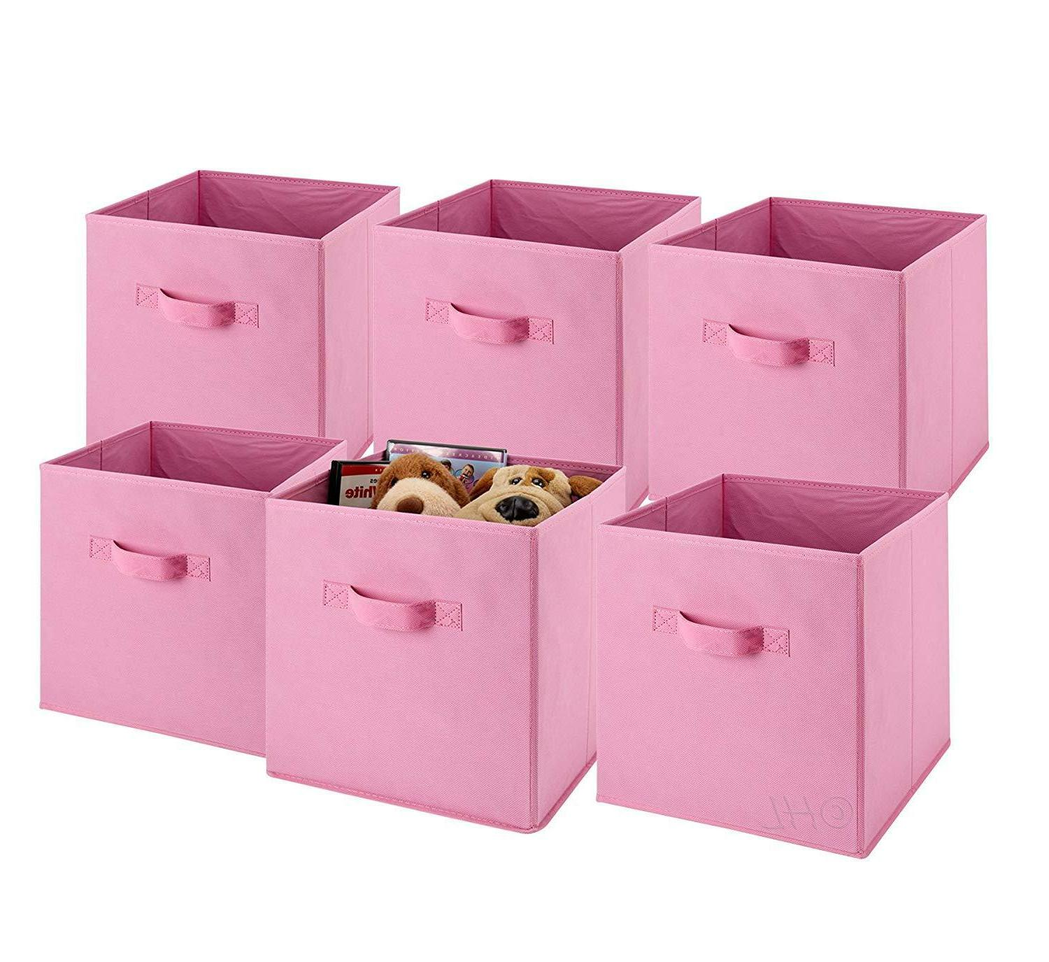 6 Cubes Bins Shelf Organizer