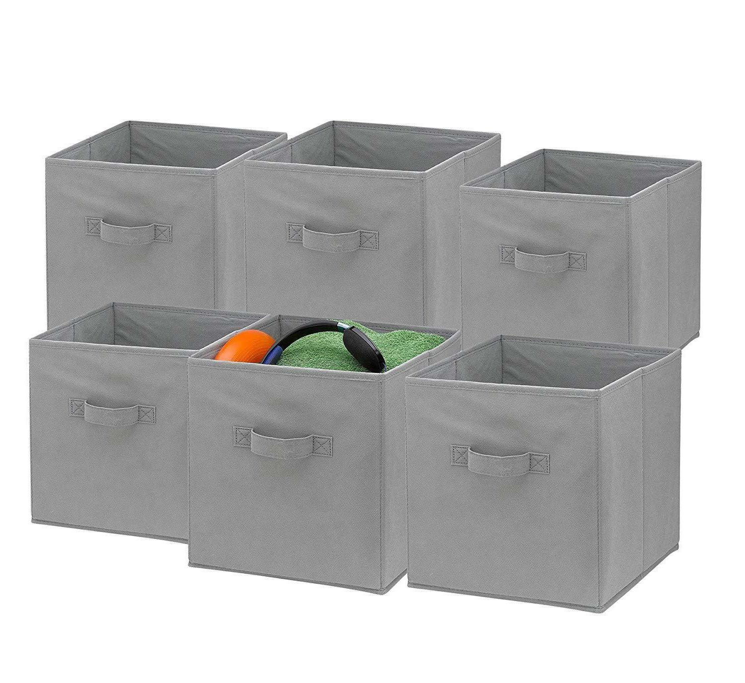 6 Cubes Collapsible Fabric Shelf Basket