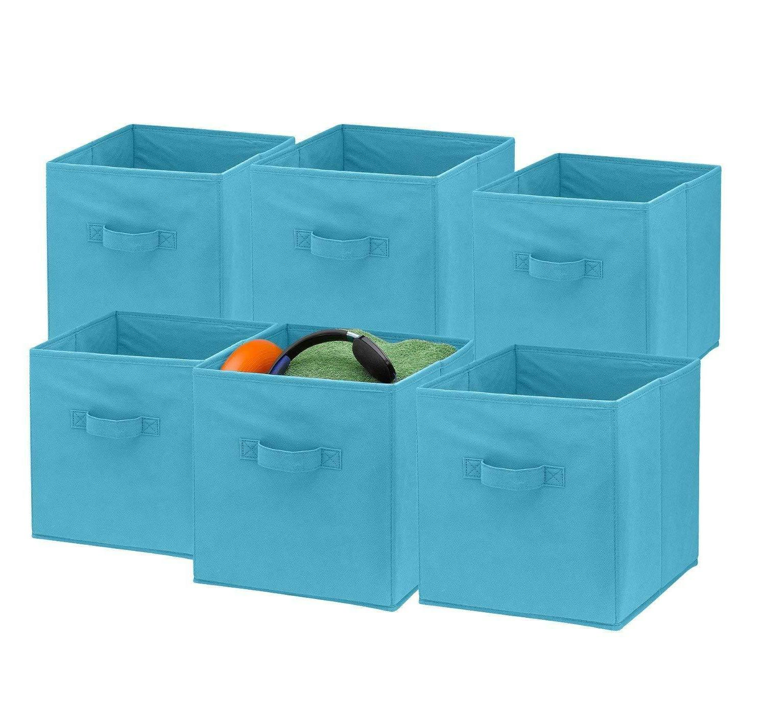 6 Foldable Cubes Shelf Basket Box
