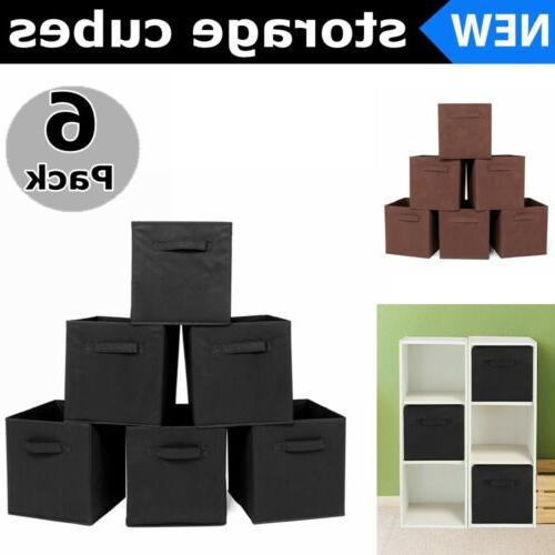 6 pack foldable unit storage cubes fabric