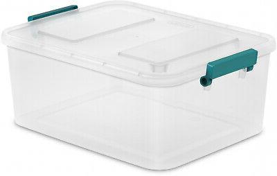 6 PACK Large Storage Sterilite Lid Clear Bin