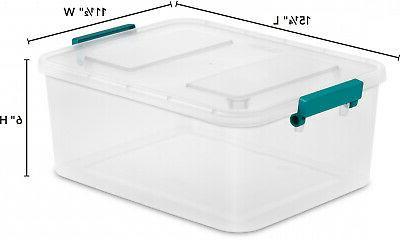 6 Storage Box Sterilite Container Bin NEW