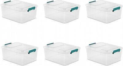 6 pack large latch storage box 12