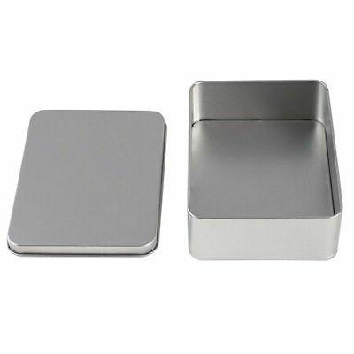 6-Pack Rectangular Tin with Lid, for Treats, Gifts,