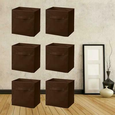 6 Storage Bins Cube Box Container