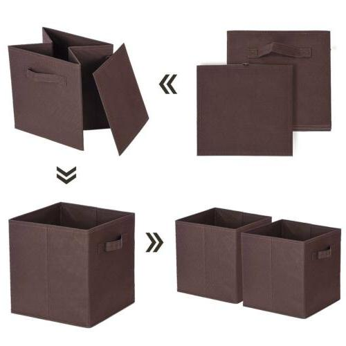 6 PCS Brown Home Cube Box Container