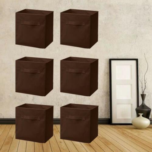 6 PCS Storage Bins Organizer Fabric Cube Box Container