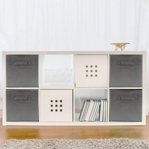 6 Pcs Fabric Organizer Cube Gray New