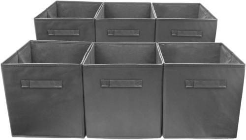 6 Organizer Cube Gray New