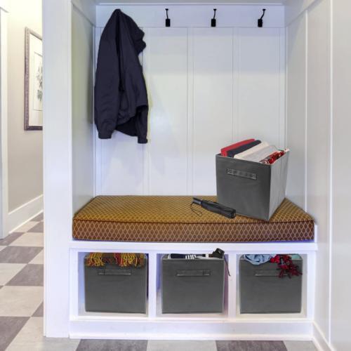 6 Pcs Collapsible Fabric Bin Organizer Box New