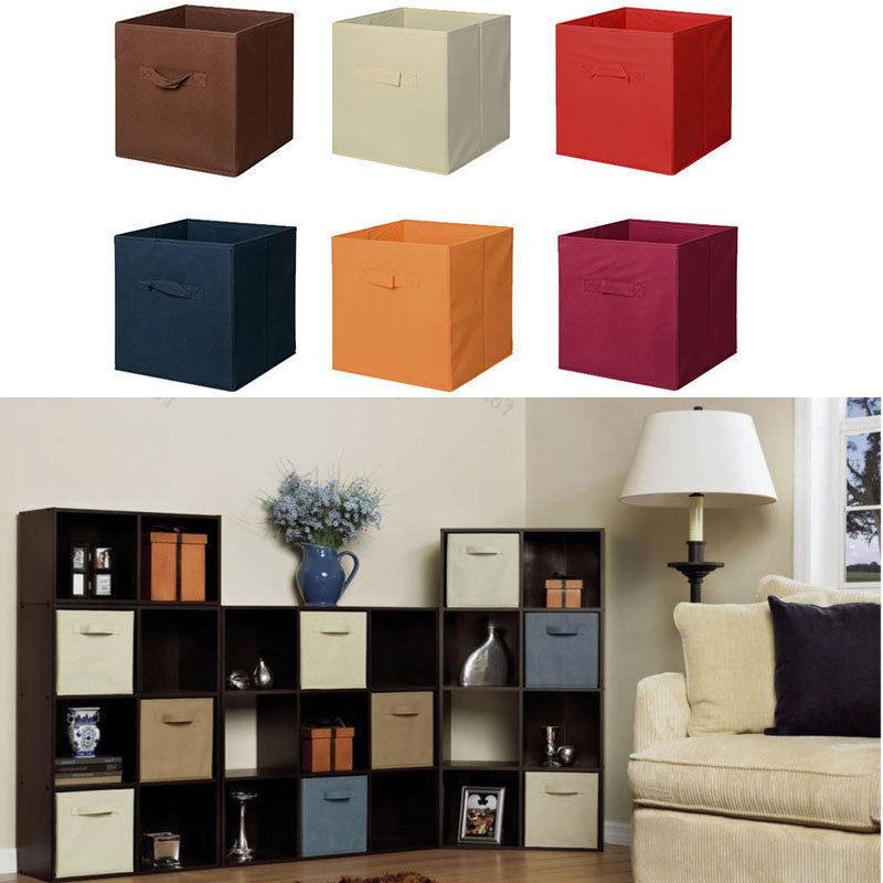 6 Home Storage Box Cube Container