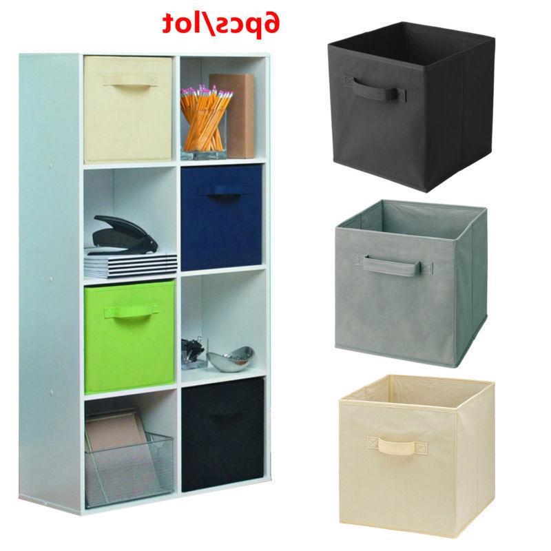 6 Pcs Home Storage Closet Cube Container