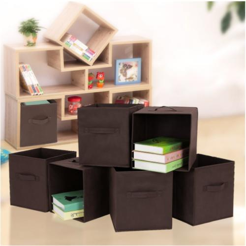 6 Bins Organizer Cube Boxes Basket DUAL DRAWER Container