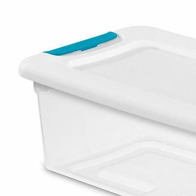 Sterilite 6-Quart Clear Latching 24 Pack 1492