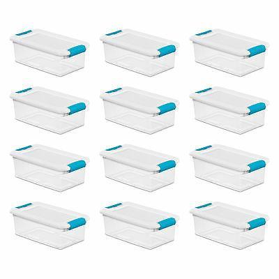 Sterilite 6-Quart Clear Stackable Latching Storage Box Conta