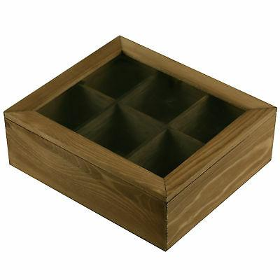 6 Slot Tea Box Storage Glass