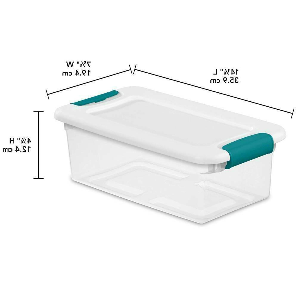 6 stackable latching storage container