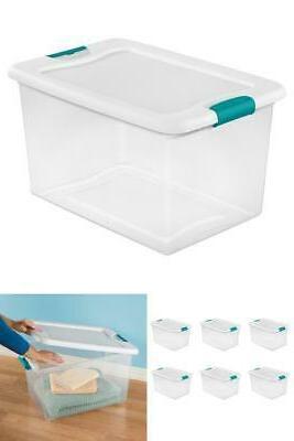 64 qt latching box white case of