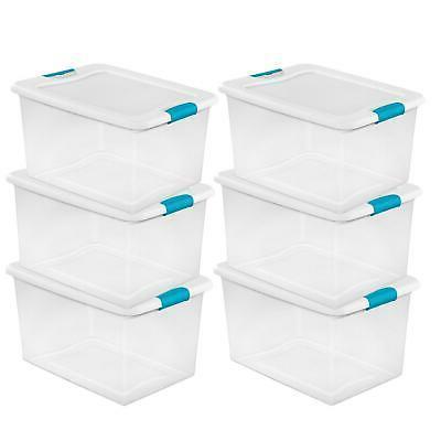 64 quart latching plastic storage