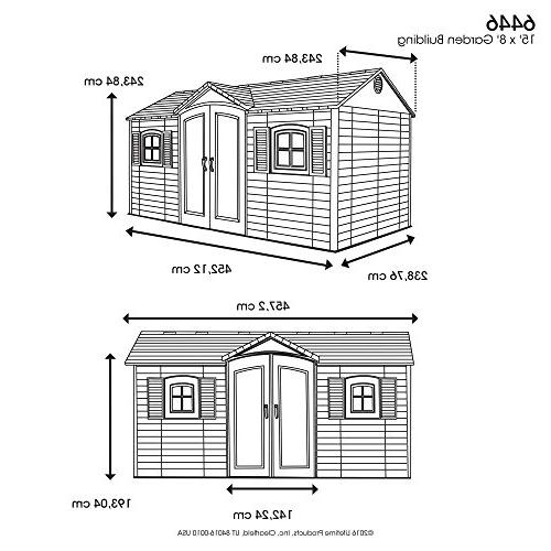 Lifetime 6446 Shed and 8 by 15 Feet