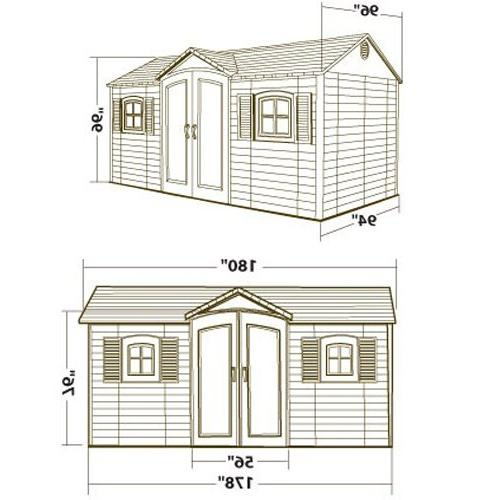 Lifetime Shed with Shutters, and 8 by 15