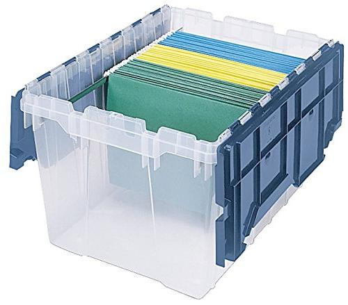 Akro-Mils 66486 FILEB Plastic Storage Box with Lid, 21-1/2-Inch by 12-1/2-Inch,